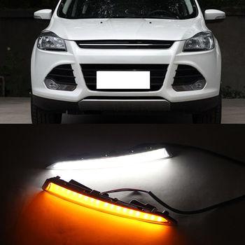 Per Ford kuga/Fuga 13-16 2 PZ DRL Daytime Running Luce indicatori di direzione Gialli