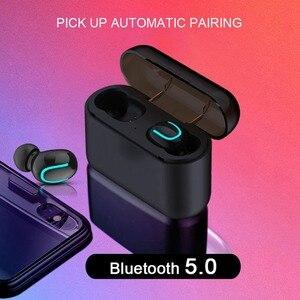 Image 4 - HBQ Q32 TWS Earphone True Wireless Bluetooth 5.0 3D Stereo IPX5 Waterproof sports Headphone With Mic Earbud HandsFree Earphone