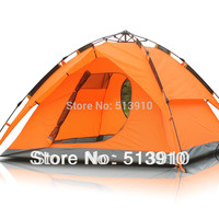 Outdoor 3 4persons automatic tent double layer windproof rainproof camping tent/quick open/fast install tent