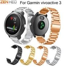 New Metal Stainless Steel Replacement Strap for Garmin Vivoactive 3 Smart Watch Band For Garmin Vivoactive 3 Watchband Bracelet цена в Москве и Питере