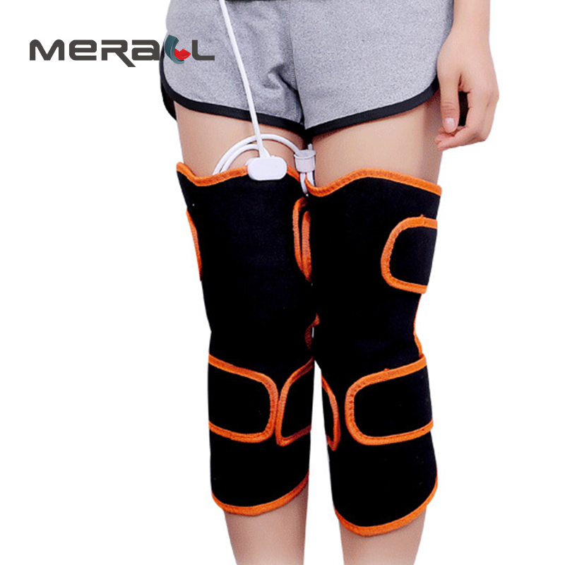 купить Electric Magnetic Moxibustion Heating Kneepad Vibration Knee Support Joint Physiotherapy Massage Pain Relief Rehabilitation Belt недорого