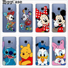 Mickey Minnie Winnie Pooh Stitch Case For Samsung Galaxy S6 S7 Edge S8 S9 S10 Plus A5 J3 J5 J7 2017 J4 J6 A6 A8 Plus 2018 Cover(China)
