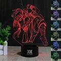 HUI YUAN 3D LED 7 Cor Mudar Toque LOL the Blind Monk Lee o pecado da noite lâmpada de mesa candeeiro de mesa de luz led como presente free grátis
