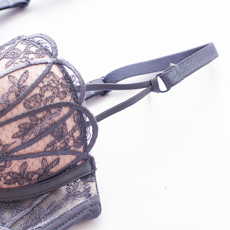 ff011bc04 JYF Brand New Vintage Sexy Lace Embroidery Underwear Set 1 2 Cup Gather Bra  Set Hot Sale Cozy Push Up Women Bra Brief Sets-in Bra   Brief Sets from ...