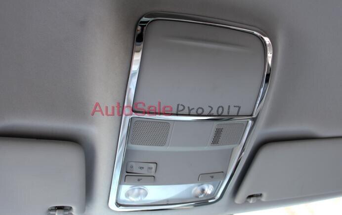 Car Styling acier Inoxydable mat Avant Toit Ouvrant Dôme Lumière Lampe Cadre Cover Version pour Skoda Octavia MK3 A7 2015 2016