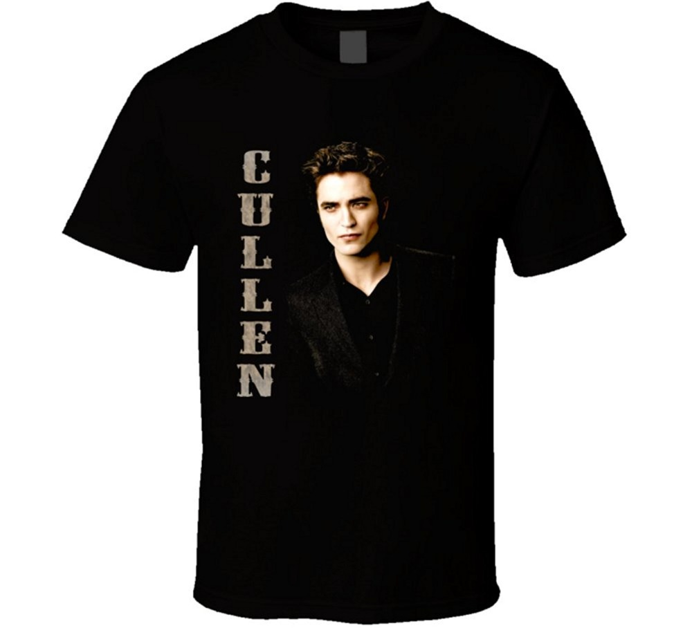 Newest 2017 mens fashion Twilight Edward Cullden Book Movie T Shirt Mens Shirts Men Clothes Novelty Cool ...
