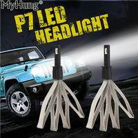 1Pair 60W 9600lm Car Front Bulb Automobiles Headlamp Car Lamps H7 LED H1 H11 9006 9005 880 P7 H3 High Bright Car Headlights