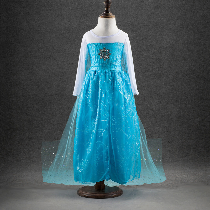 HTB1JvHtbcLJ8KJjy0Fnq6AFDpXa8 2019 Elsa Dresses For Girls Princess Anna Elsa Costumes Party Cosplay Elza Vestidos Hair Accessory Set Children Girls Clothing