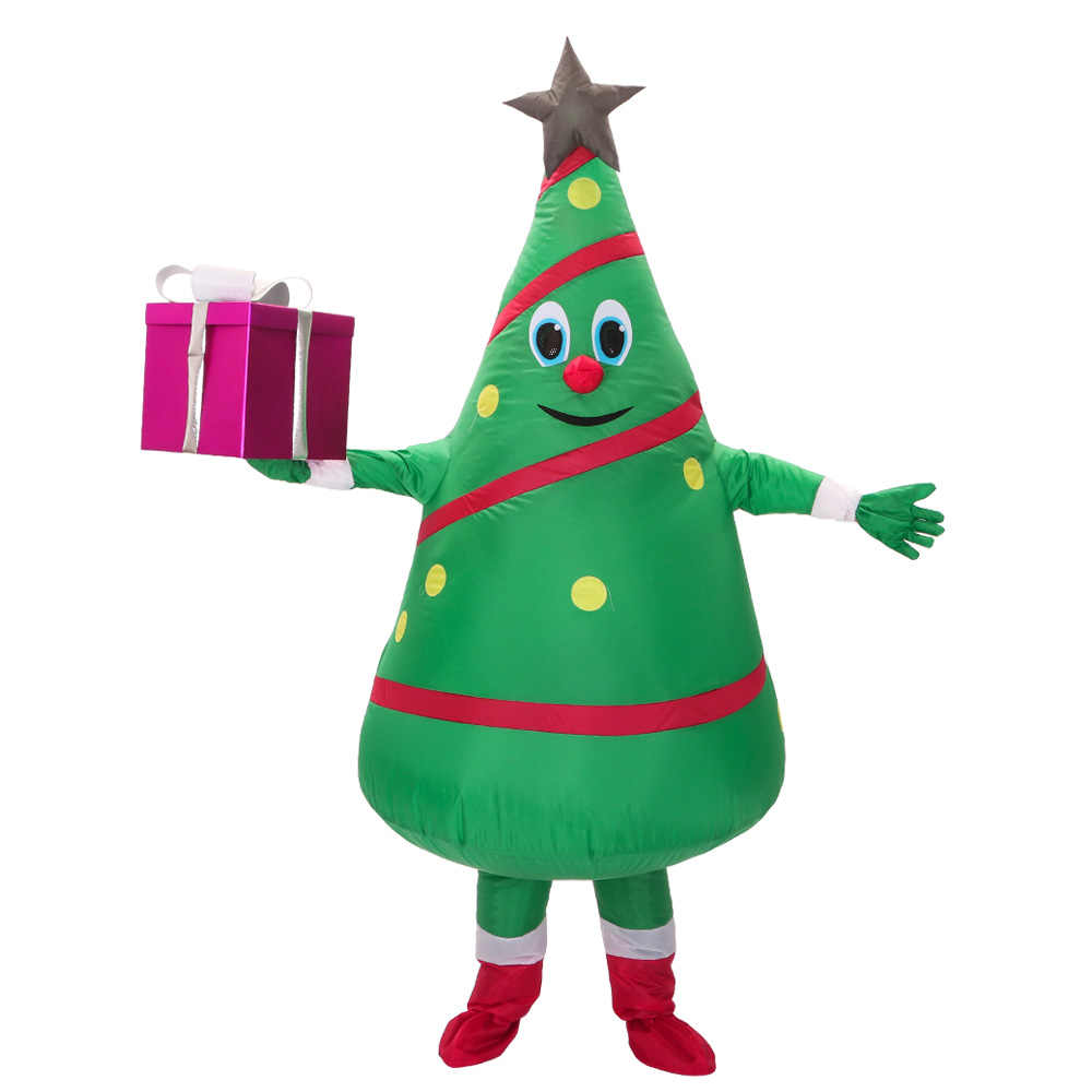 Hot Sale adult  inflatable costume new design  Green Christmas Tree Mascot Costume Free Shipping