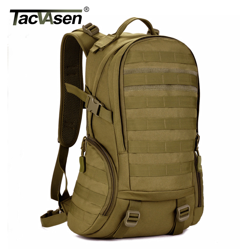 TACVASEN 35L Waterproof Molle Men Backpack Military 3P Backpacks Camouflage Army Travel Bags School Backpack TD