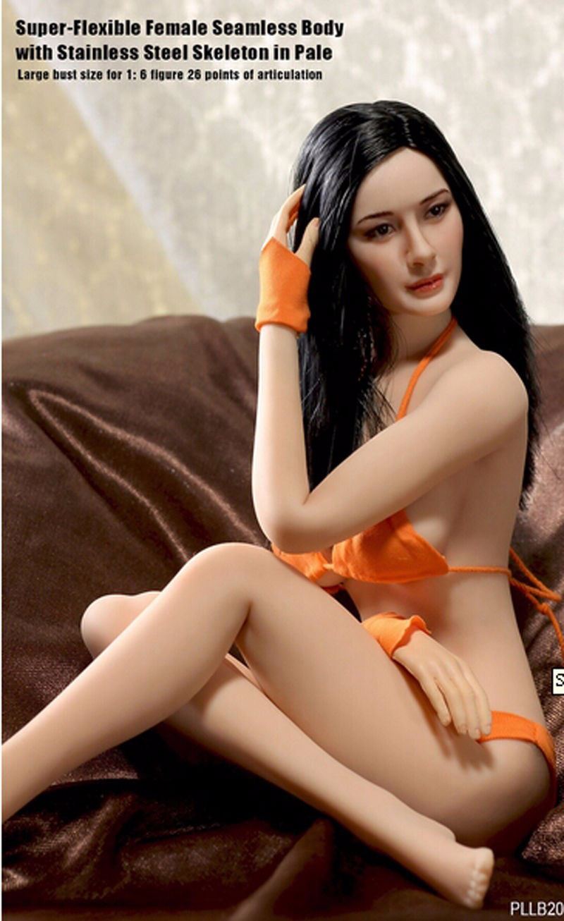 1:6 New Super-Flexible Large Bust Size Female Seamless Model With Stainless Steel SkeletonPLLB2014-S07 Collectible Dolls Toys