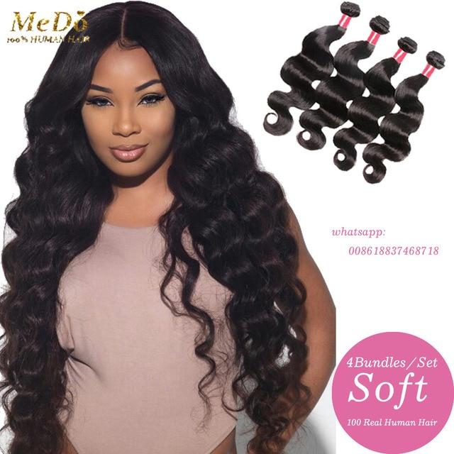 8a Doreen Brazilian Virgin Hair True Glory 4 Bundles Mario Body Wave