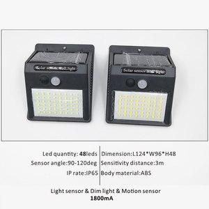 Image 5 - אלחוטי שמש מופעל 35 LED שמש אור עמיד למים IP65 PIR חיישן תנועה חיצוני גדר גן אור נתיב שמש מנורת קיר