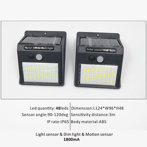 Image 5 - Wireless Solar Powered 35 LED Solar Light Waterproof IP65 PIR Motion Sensor Outdoor Fence Garden Light Pathway Solar  Wall Lamp