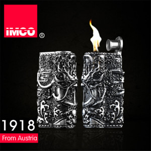 Image 3 - Genuine IMCO Lighter Retro 3D Relief Dragon Gasoline Kerosene Lighter Original Cigarette Lighter Cigar Fire Petrol Lighters