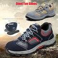 Zapatos de punta de acero Anti-piercing y anti-piercing botas de trabajo transpirables zapatos de seguridad para escalada