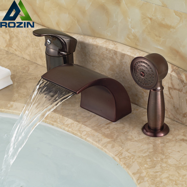Migliore Qualità 3 pz Curva Waterfall bocca per Vasca Rubinetto Del ...