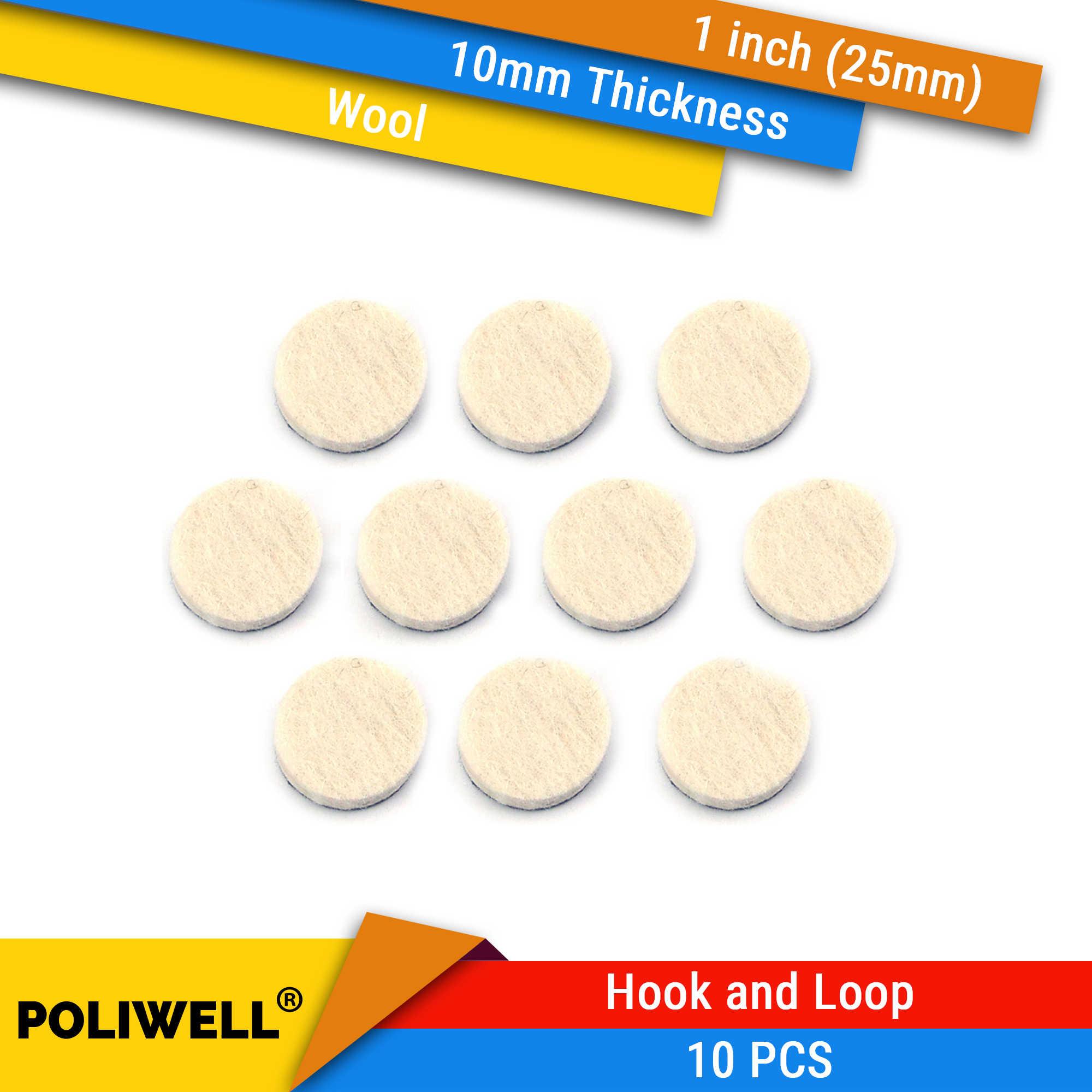 10 sztuk 1 Cal 25mm okrągły wełny podkładka do szlifowania tarcza filcowa tarcza szlifierska do małej powierzchni grzywny polerowania ścierne narzędzia akcesoria