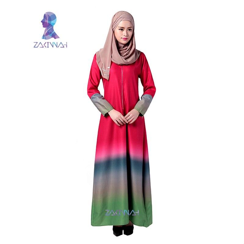 034 2016 جودة عالية الملابس الإسلامية للنساء التركية النساء الملابس أزياء فساتين مسلم القطن العباءة