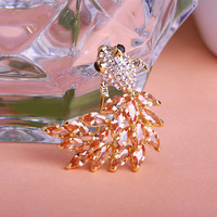 CZ Diamond Joyas Wedding Gold Fish Brooches Coroa Collar Pin Hijab Pin Up Women Perfume Clip