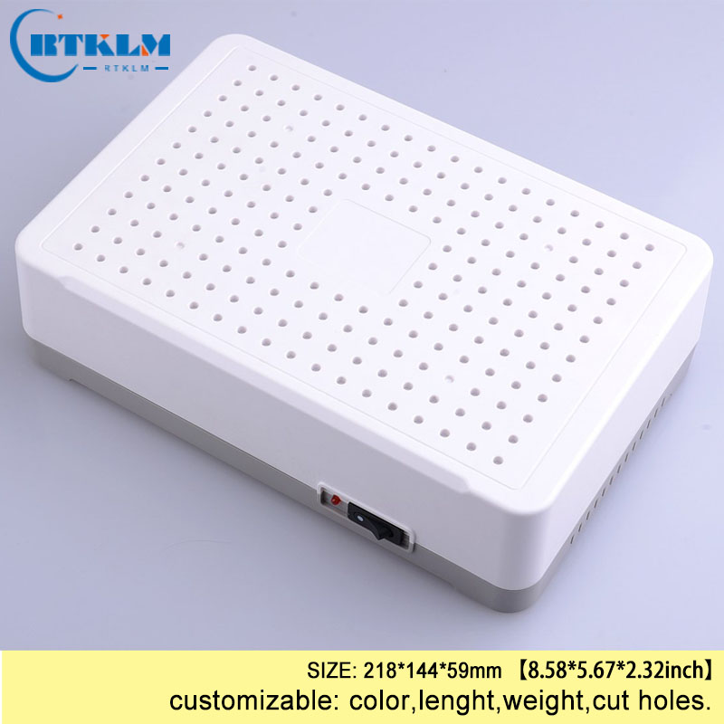 Plastic network enclosure abs junction box electronic instrument case diy project box custom wifi electric box IP54 218*144*59mm image