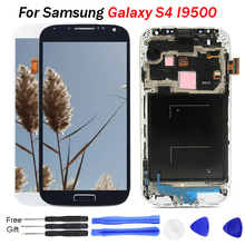 S4 LCD 5.0'' AMOLED LCD Display Touch Screen Digitizer for SAMSUNG Galaxy S4 LCD With Frame GT-i9505 i9500 i9505 i9506 i337 стоимость