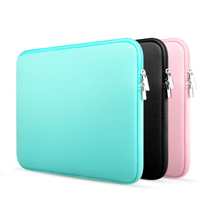 Image 1 - 11 12 13 14 15 15.6 inch sleeve laptop case for MacBook Air Pro Ultrabook Notebook Tablet computer Portable Soft Zipper bag