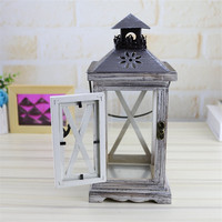 Wedding Candle Holder Lantern Retro Home Decoration Crafts Moroccan Decor Retro Wood House Candlestick European Romantic