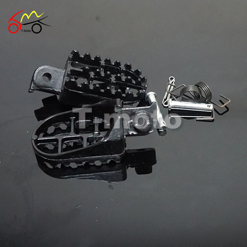 New Motorcycle Motocross Aluminium Footpegs Footrest Foot Pegs For XR50R CRF50 CRF70 CRF80 CRF100F Dirt Pit Bike