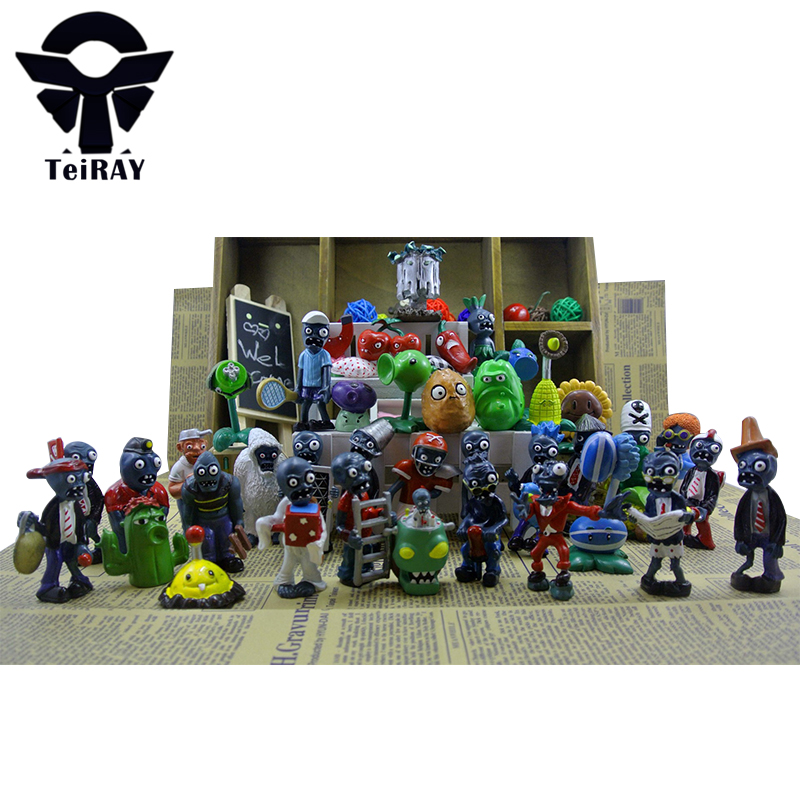 ФОТО 40Pcs set Plants Vs Zombies Toys Anime PVZ Pvc Action Figure 3-8cm Collection Model Figma Kids Toy for Boys Girls Birthday gifts