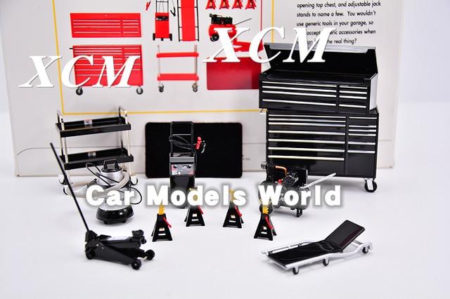 Modell Skala Miniaturen Garage Wesentliche Kit 1:18 (Schwarz) + KLEINE GESCHENK!!!