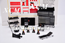 Modello Bilancia Miniature Garage Essentials Kit 1:18 (Nero) + PICCOLO REGALO!!!
