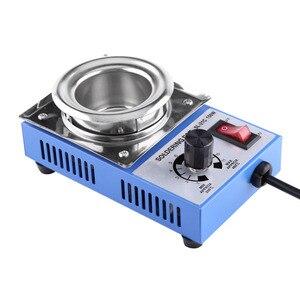 Image 1 - ST 21C 220V 150W Solder Pot Soldering Desoldering Bath 50mm 200 450℃ Adjustable Stainless Steel Soldering Melting Stove Tin Pot