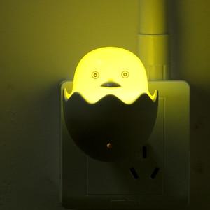 Image 5 - Timing Fernbedienung Steckdose LED Nachtlicht 110V 220V EU Stecker Schöne Cartoon Gelbe Ente Licht Sensor LED Nacht Lampe