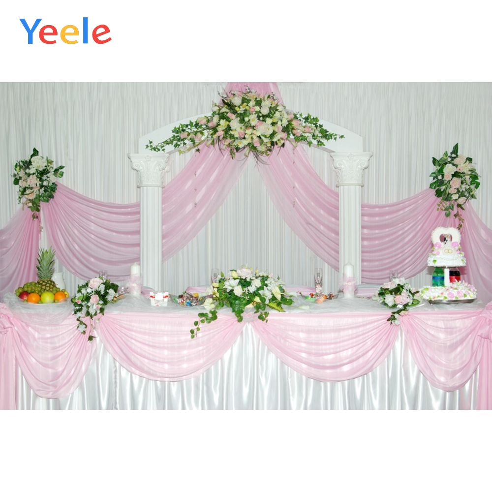 Yeele Wedding Ceremony Party Arch Door Food Curtain Photography Backdrops Personalized Photographic Backgrounds For Photo Studio
