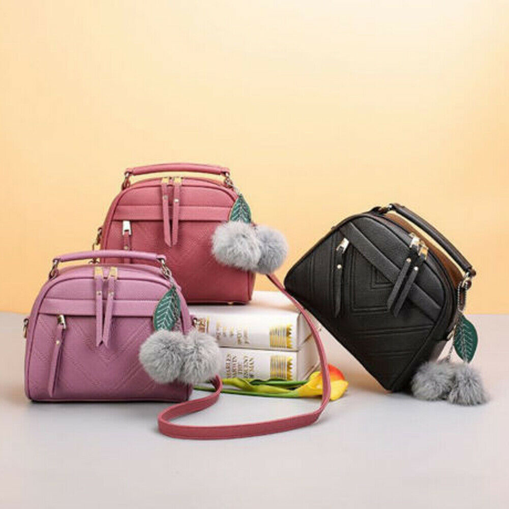 Womens Leather Handbag Shoulder Bag Lady CrossBody Tote Messenger Satchel Purse