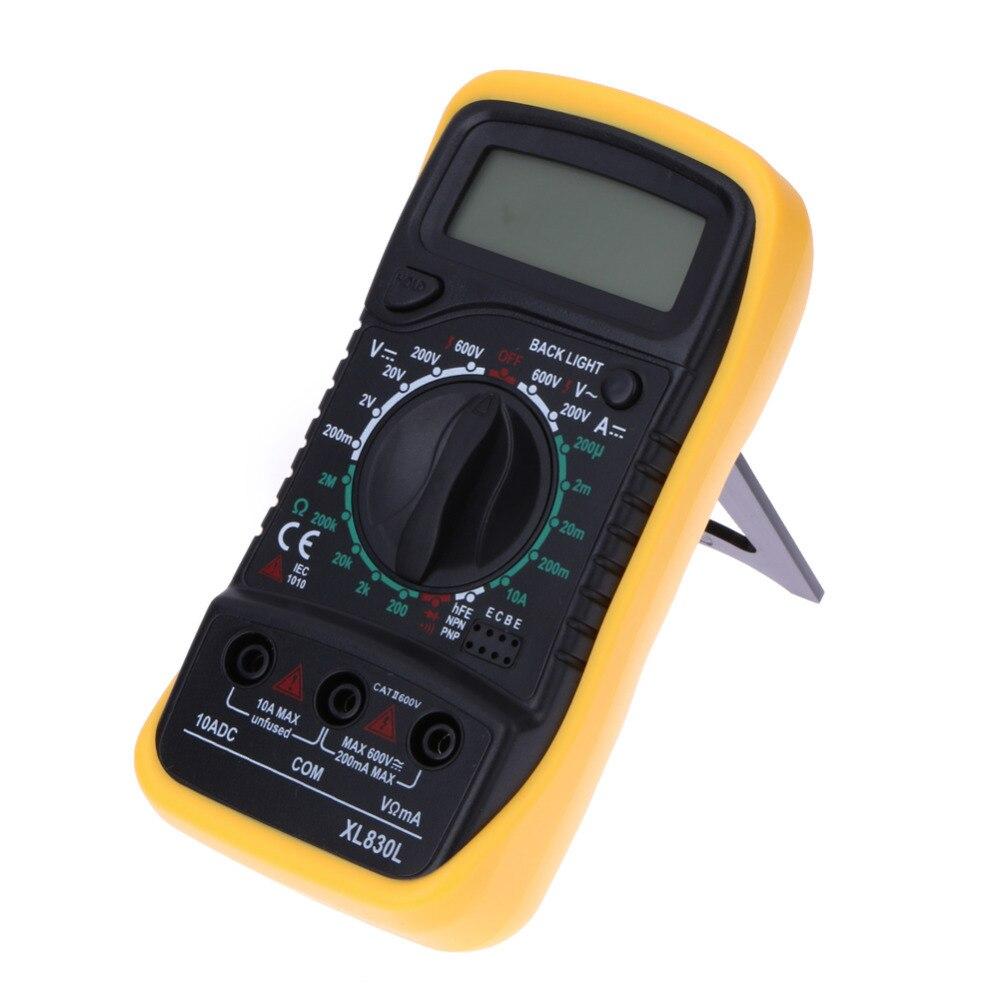 LCD Digital Multimeter Ammeter Voltmeter Ohmmeter Electric Handheld Multitester AC/DC Volt Amp Ohm Meter Tester Diagnostic Tool