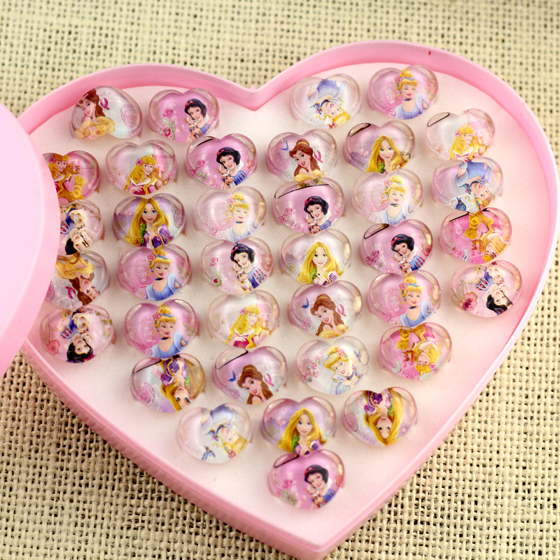 25PCS Baby Shower Decoration For Girl Princess Cartoon Ring Kids Happy  Birthday Party Supplies Favors Return Gift  In Party Favors From Home U0026  Garden On ...