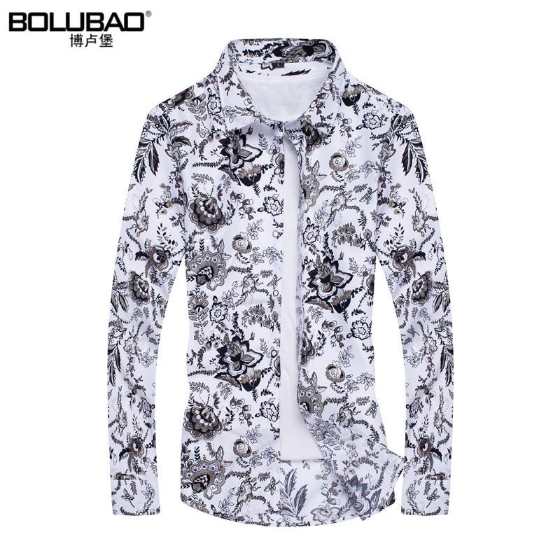 2017 grand sale brand clothing men shirt fashion flower for Dress shirts on sale online