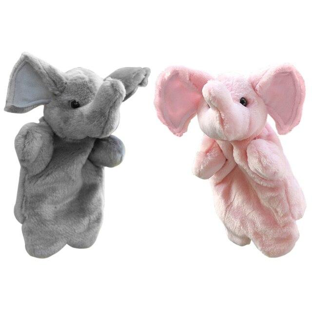 Bayi Lucu 1 Pcs Boneka Tangan Kartun Hewan Gajah Bayi Anak Anak Tk