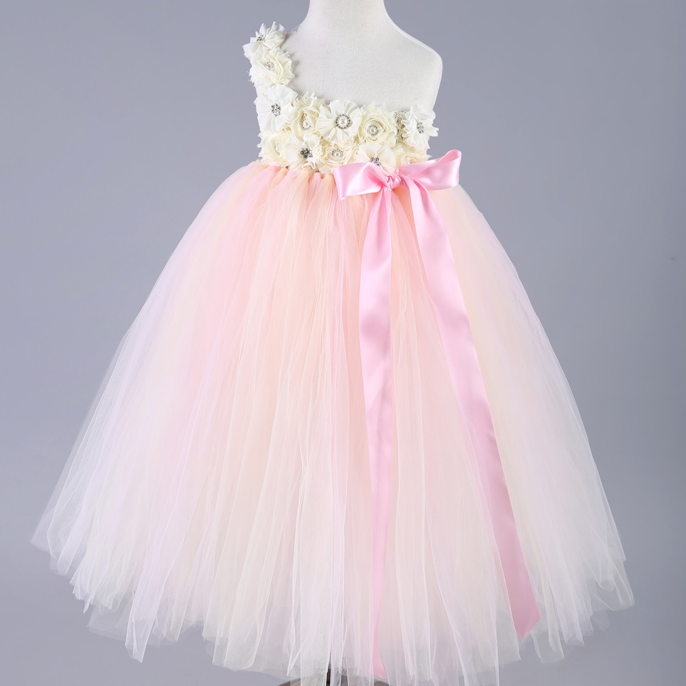 2016 hot sale baby girls lace princess tutu dress party