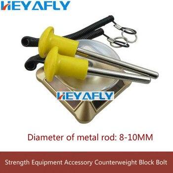 цена на Fitness Equipment Accessories Belt Line Magnetic Bolt Counterweight Block Thumb Latch Pull Out Pin Strength Training Screw Bolt