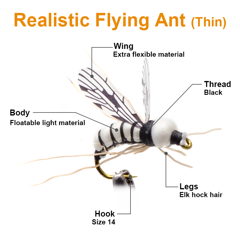 Image 4 - 16PCS Realistic MAYFLY Fly Lures Set Dry Wet Nymphs Caddis Emerger Larvae Pupa Stonefly Fly Fishing set kits-in Fishing Lures from Sports & Entertainment