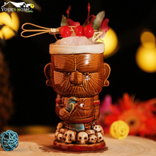 1 Piece 500ml Hawaii Tiki Mugs Cocktail Cup Beer Beverage Mug Wine Ceramic Ku.Ku.Kauioo