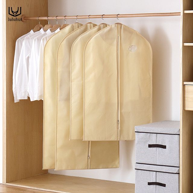 luluhut color cloth cover bag with zipper garment dust Cover Dust Bag Coat Storage Bag Protector cloth Bag Protective Cover
