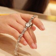 14MM Super Mini Women Bracelet Watches Quartz Fashion Crystals Dress Wris twatch Vogue Girls Bangle Clock Steel Bracelet Montre