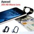Clipe lente macro lente da câmera do telefone móvel para o iphone 6 20x 6 mais 5 4 para samsung galaxy super profissional lentes macro 20x 20XM