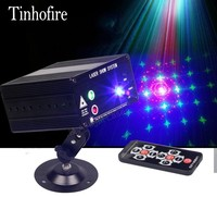 Tinhofire Remote Control 48 Design LED Stage Light Lamp RG Laser Projector Stage Light 12V Strobe Laser DJ Disco Party KTV
