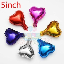 5pcs 5inch star/heart balloon multicolour 5 small cute foil ballon for birthday decoration wedding party supplies