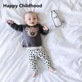 2017 Primavera INS Venta Caliente Koala Impreso Ropa de Bebé Establece 2 unids chándal para los recién nacidos del bebé la ropa del bebé ocasionales